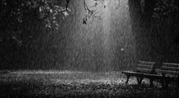 Aí está a chuva