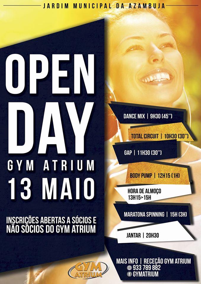 "Cartaz ""Open Day"" Gym Atrium"