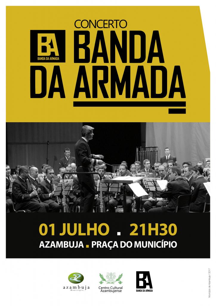 """Cartaz """"Concerto Banda da Armada"""""""