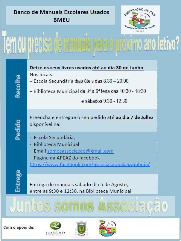 "Cartaz ""Banco de Manuais Escolares Usados"""