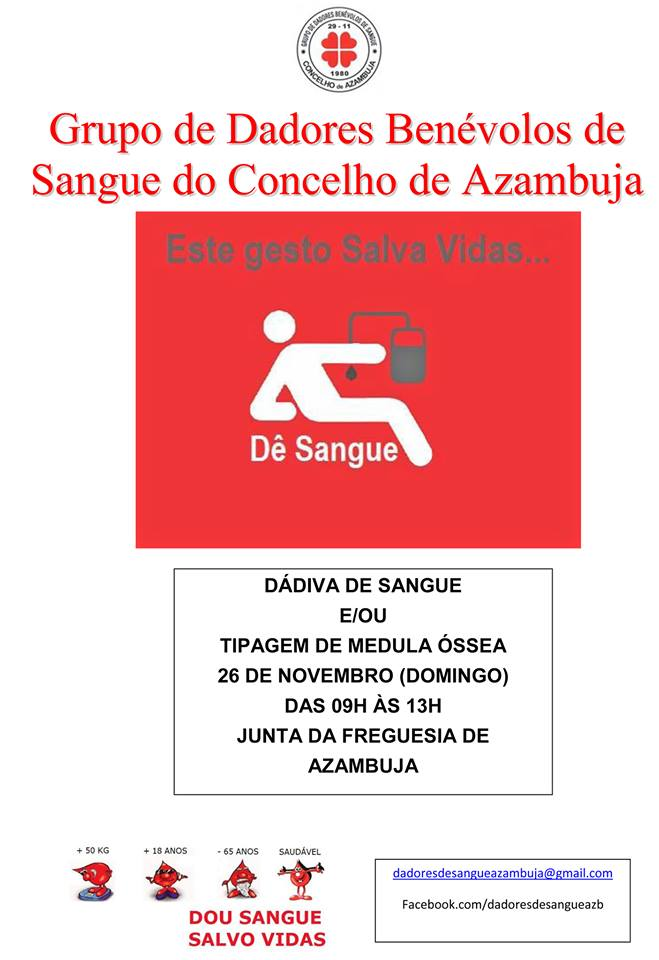Cartaz Dádiva de Sangue