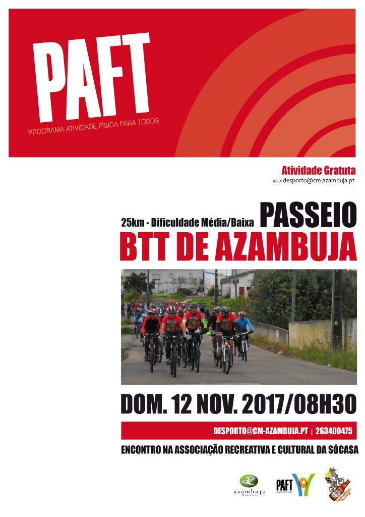 Cartaz Passeio BTT - PAFT