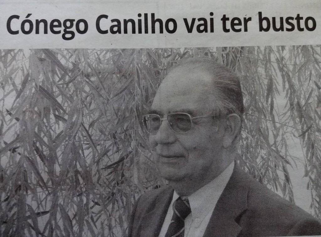 Cónego João Canilho, na edição impressa do Correio de Azambuja (dezembro 2017)