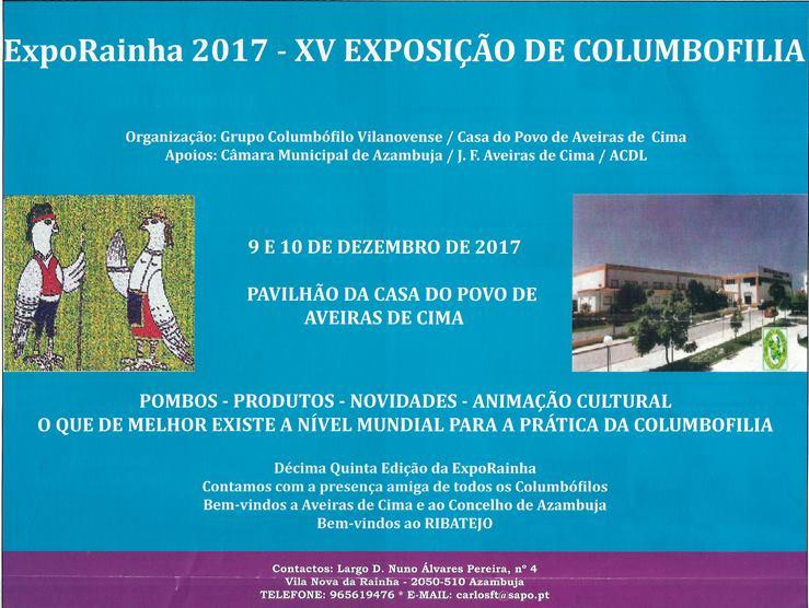 """Cartaz """"ExpoRainha 2017"""""""