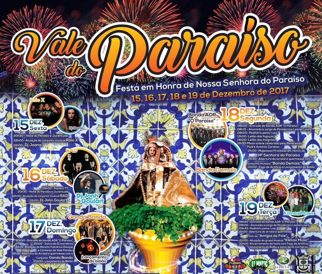 Cartaz Festa em Honra de Nossa Senhora do Paraíso