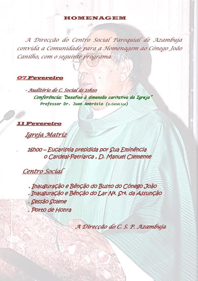 Programa de homenagem a João Canilho