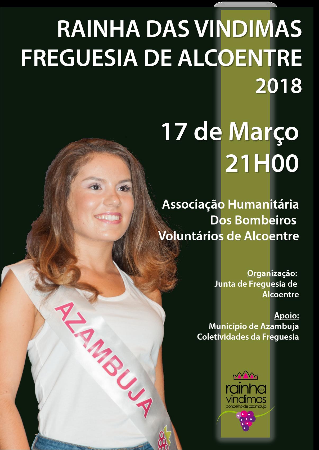 Cartaz Eleição Rainha das Vindimas 2018 de Alcoentre