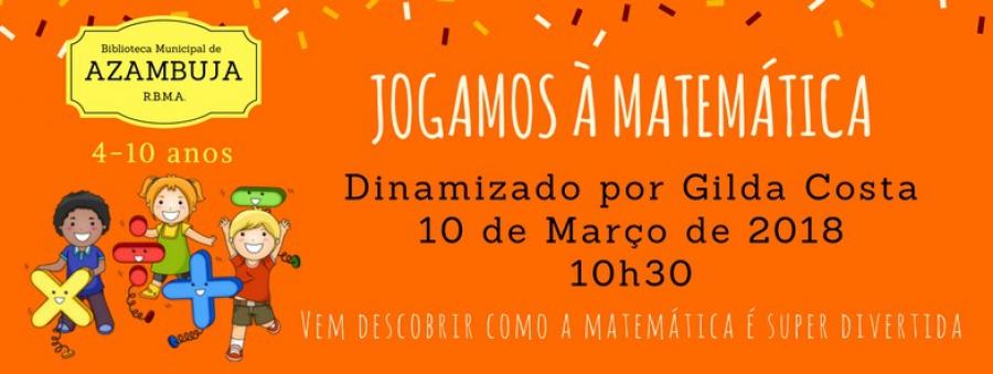 """Cartaz """"Jogamos à Matemática"""" (Foto: CMA)"""