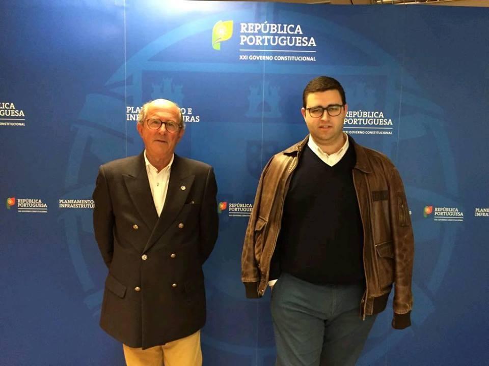 Luís de Sousa, à esquerda, com André Salema após reunião com a Infraestruturas de Portugal